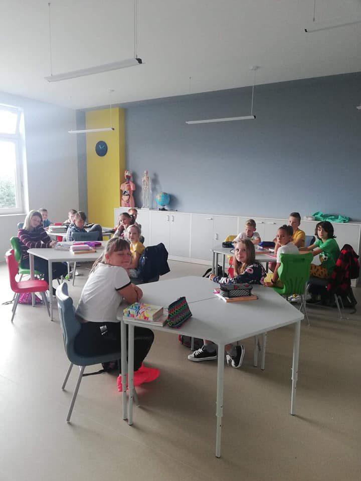 Nasze pierwsze lekcje w nowym budynku ;)