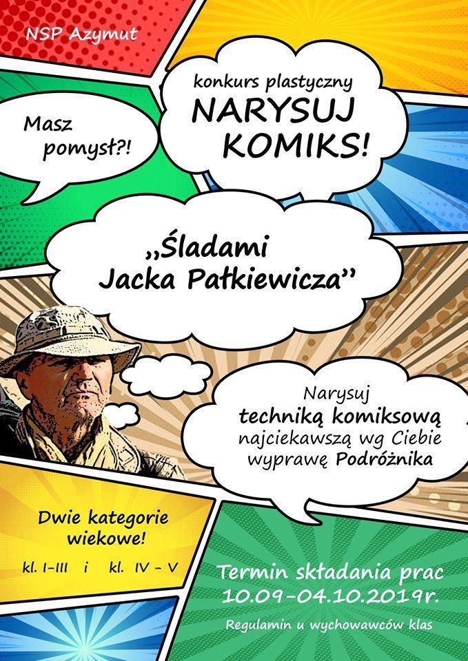 """Konkurs plastyczny """"Śladami Jacka Pałkiewicza"""""""